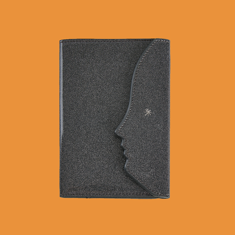 FUNNY FACE PASSPORT CASE _SILVER