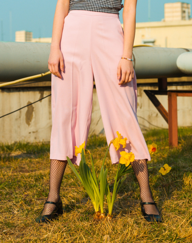 Wide Banding Pants_Pink