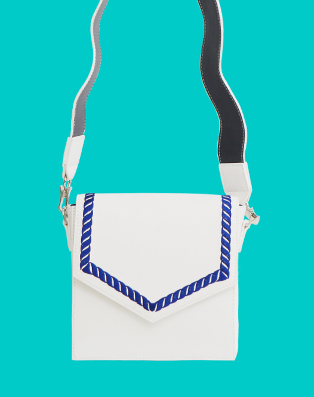 [season off sale 30%] Sailor Chain Bag_Pure White