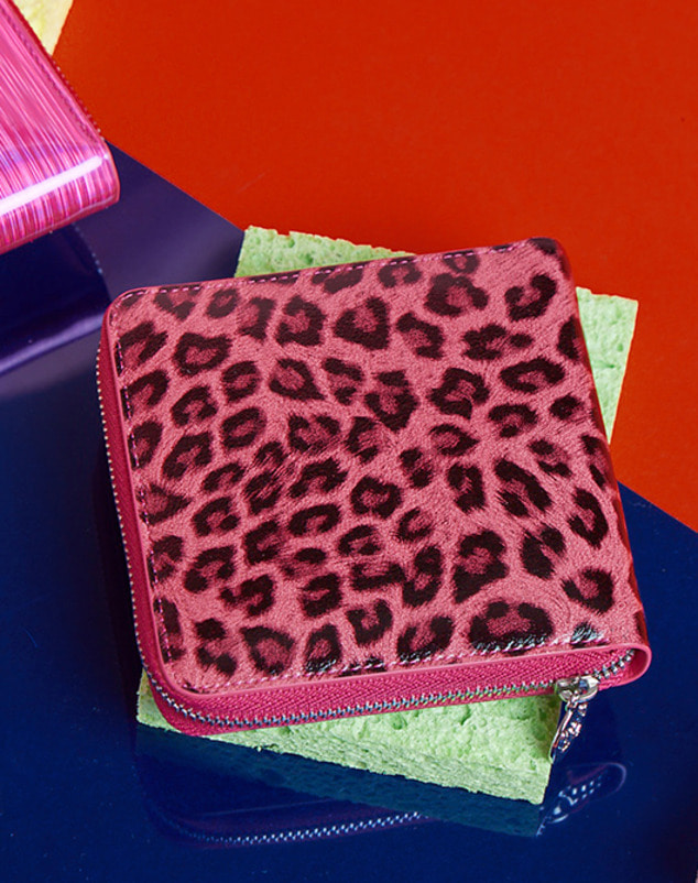 [season off sale 30%] Pink Leopard Wallet