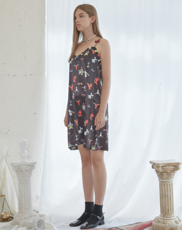 [season off sale 30%] Love Cherry Pattern Sleeveless Dress