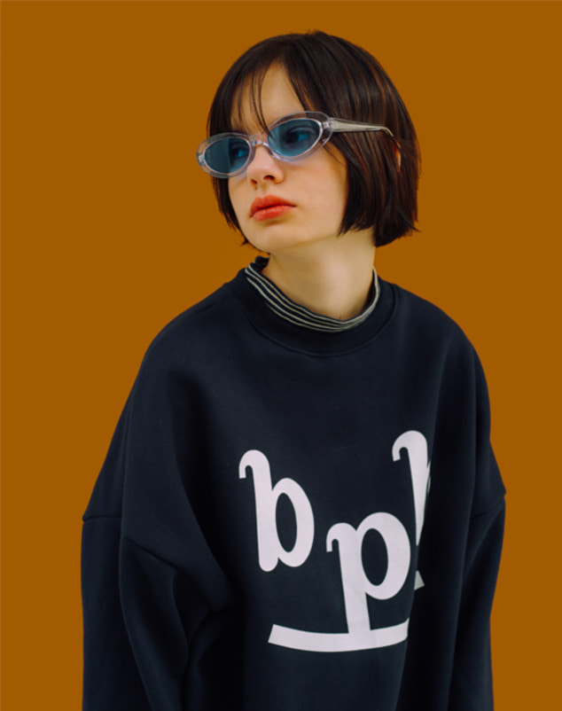 [3차 리오더] bpb Smile Logo Sweatshirt_Navy