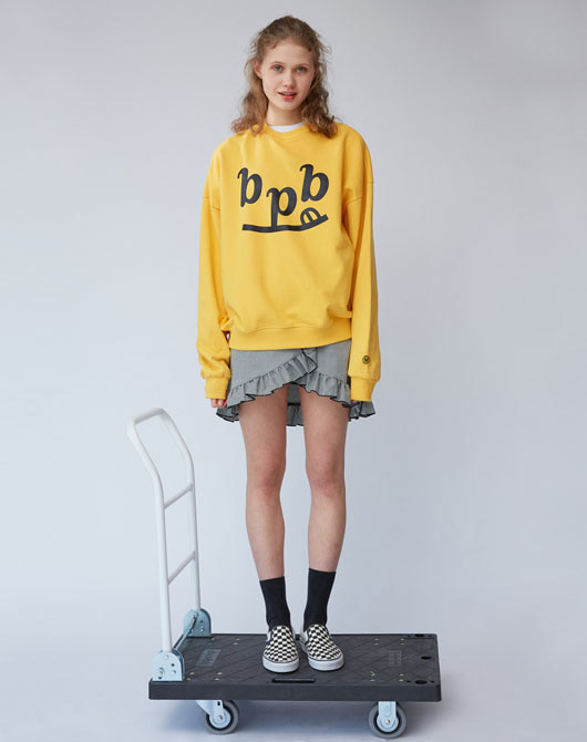 [배우 남보라 착용] Smile B Sweatshirt_Yellow