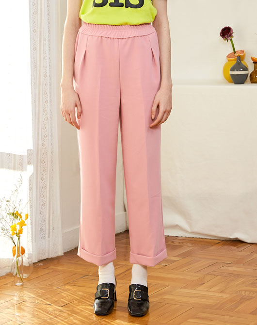 [SUMMER SALE 40%]Cherry Band Pants_Pink