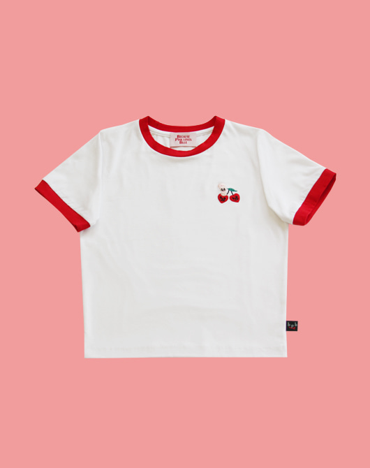 [bpb x estherlovesyou] Cherry Bonny Crop Top_White