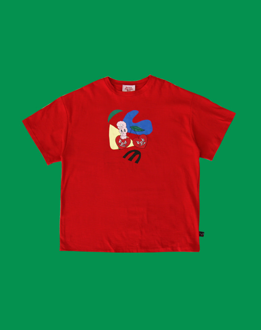 [bpb x estherlovesyou] Art Bonny T-Shirt_Red