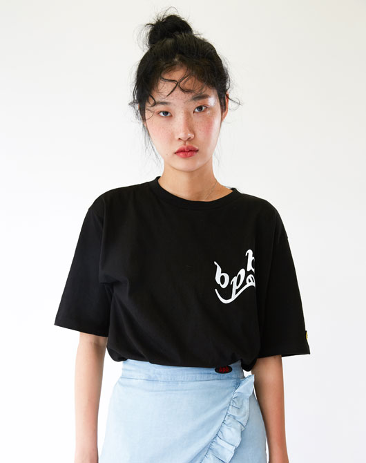 [발매기념 10%할인] SMILE B LOGO T-SHIRT HS_BLACK