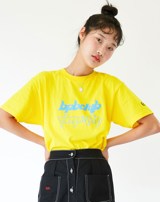 [발매기념 10%할인] BPB CLUB LOGO T-SHIRT HS_YELLOW