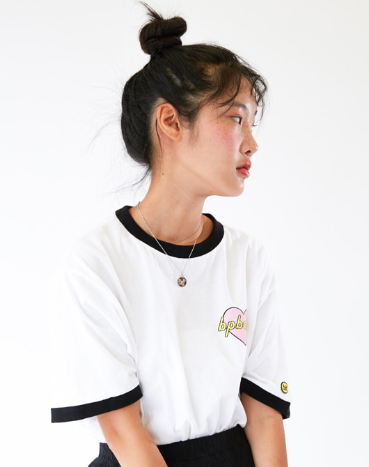 [SALE 30%] [빅플로 렉스 착용] LUV BPBCLUB T-SHIRT HS_WHITE