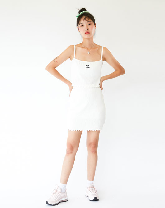 [발매기념 10%할인] BPB CLUB BANDING SKIRT HS_WHITE