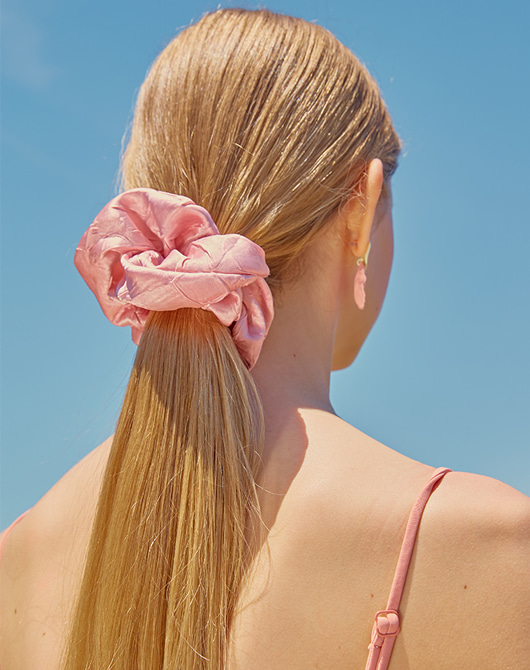 [발매기념 10%할인] Hair Scrunchie (Peach)