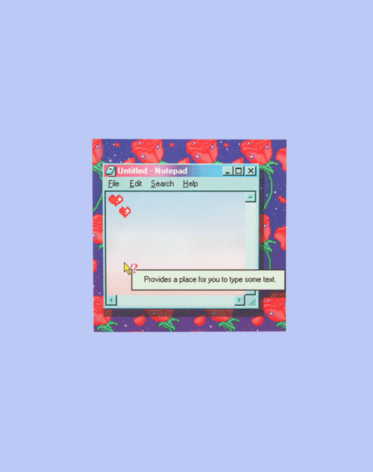 [M.P.R] retro rose night memo pad