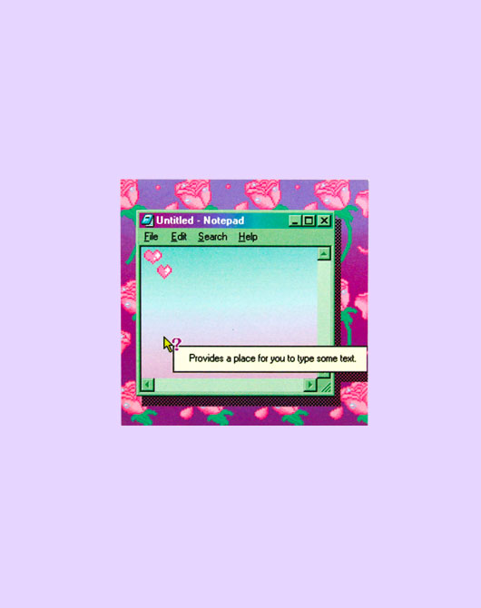 [M.P.R] retro rose memo pad