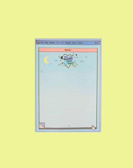 [M.P.R] blue moonlight memo pad_A5