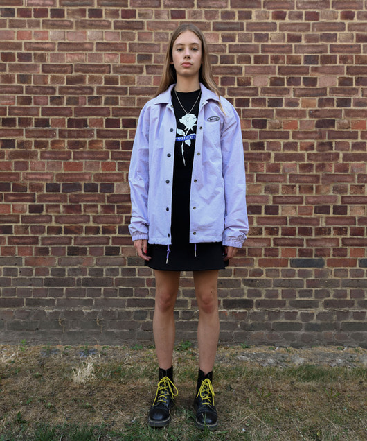 LAZY VIDEO CLUB COACH JACKET_LIGHT VIOLET