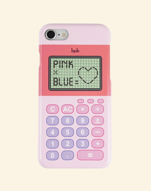 [Season off 10%] PINK X BLUE IPHONE CASE_PINK