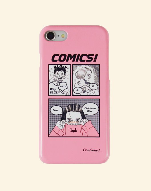 [Season off 10%] COMICS IPHONE CASE_PINK