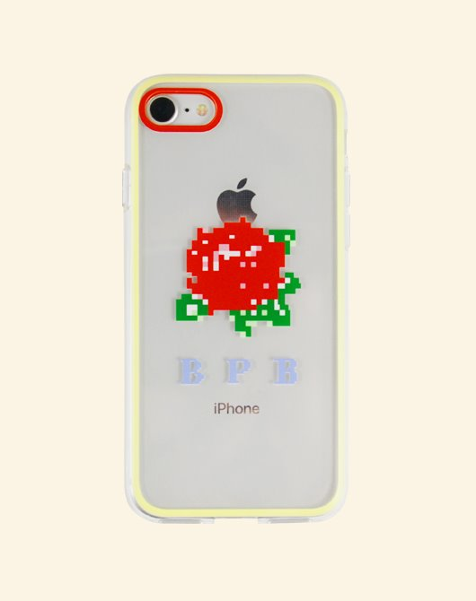 [Season off 10%] PIXEL ROSE IPHONE CASE_RED