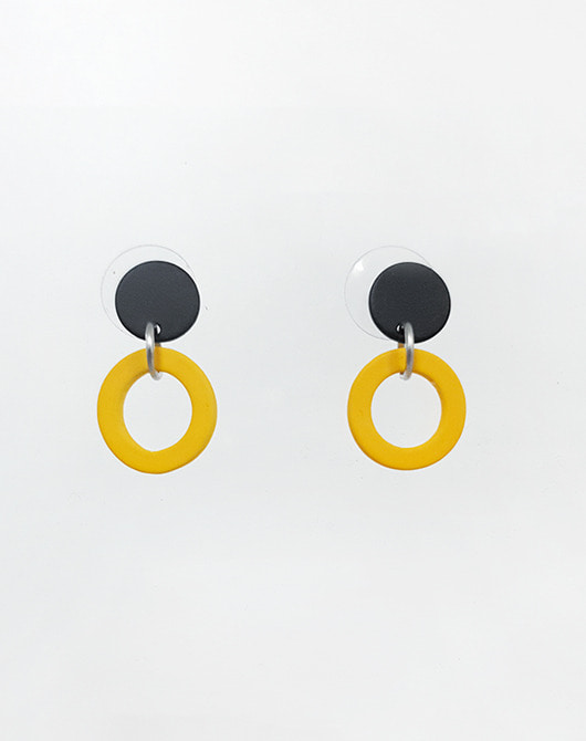 dot earring_yellow